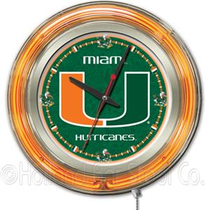 Holland University of Miami FL Neon Logo Clock
