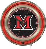 Holland Miami University Ohio Neon Logo Clock