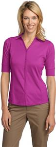 Port Authority Ladies Interlock Button-Front Polos