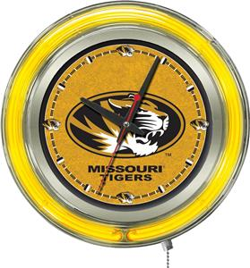 Holland University of Missouri Neon Logo Clock