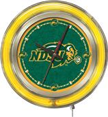 Holland North Dakota State Univ Neon Logo Clock