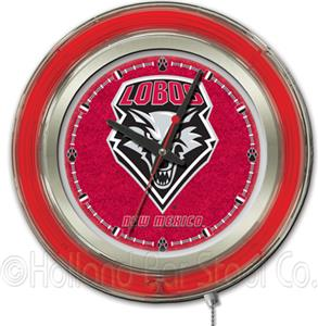 Holland University of New Mexico Neon Logo Clock