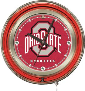Holland Ohio State University Neon Logo Clock