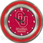 Holland Oklahoma University Neon Logo Clock