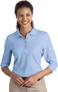 Port Authority Ladies Silk Touch 3/4-Sleeve Polos