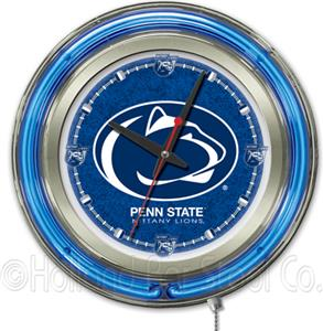 Holland Pennsylvania State Univ Neon Logo Clock