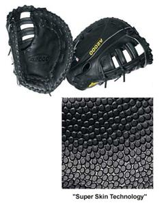 "12"" 1st Base Black Leather Baseball Gloves"