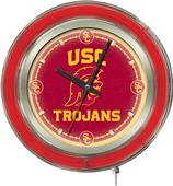 Holland Univ Southern California Neon Logo Clock
