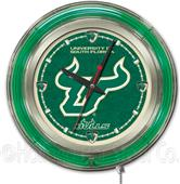 Holland Univ of South Florida Neon Logo Clock