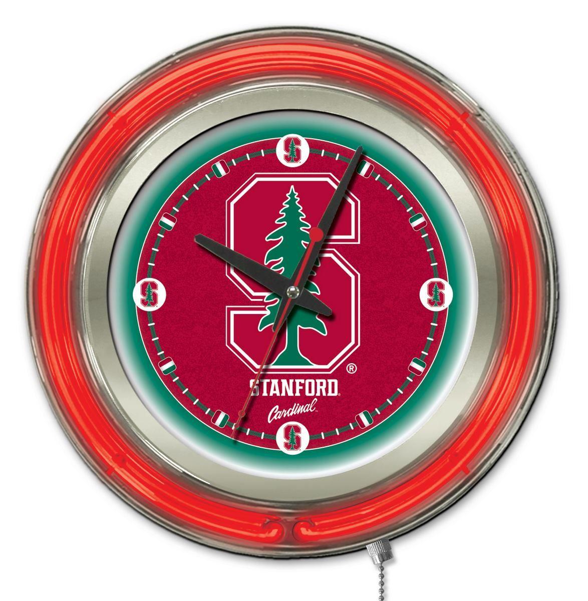 E71310 Holland Stanford University Neon Logo Clock
