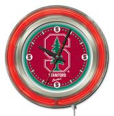 Holland Stanford University Neon Logo Clock