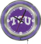 Holland TCU Neon Logo Clock