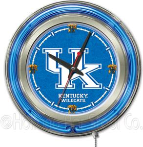 Holland University of Kentucky UK Neon Logo Clock