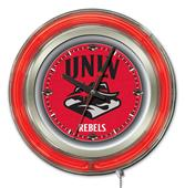 Holland UNLV Neon Logo Clock