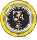 Holland US Military Academy Neon Logo Clock