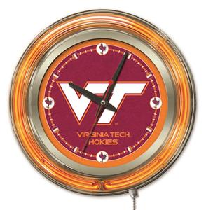 Holland Virginia Tech University Neon Logo Clock