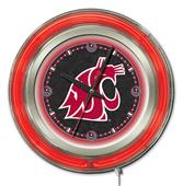 Holland Washington State Univ Neon Logo Clock