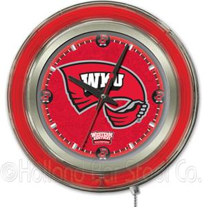 Holland Western Kentucky Univ Neon Logo Clock