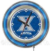 Holland Xavier College Neon Logo Clock