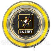 Holland United States Army Neon Logo Clock
