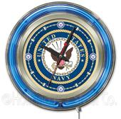 Holland United States Navy Neon Logo Clock