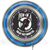 Holland POWMIA Military Neon Logo Clock