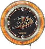 Holland NHL Anaheim Ducks Neon Logo Clock