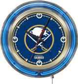 Holland NHL Buffalo Sabres Neon Logo Clock