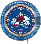 Holland NHL Colorado Avalanche Neon Logo Clock