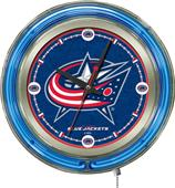 Holland NHL Columbus Blue Jackets Neon Logo Clock