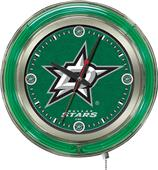 Holland NHL Dallas Stars Neon Logo Clock
