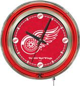 Holland NHL Detroit Red Wings Neon Logo Clock
