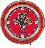 Holland NHL Florida Panthers Neon Logo Clock
