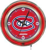 Holland NHL Montreal Canadiens Neon Logo Clock