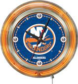 Holland NHL New York Islanders Neon Logo Clock
