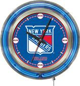 Holland NHL New York Rangers Neon Logo Clock