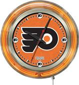 Holland NHL Philadelphia Flyers Neon Logo Clock