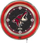 Holland NHL Arizona Coyotes Neon Logo Clock