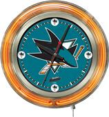Holland NHL San Jose Sharks Neon Logo Clock