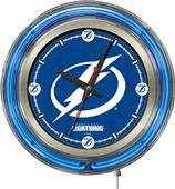 Holland NHL Tampa Bay Lightning Neon Logo Clock