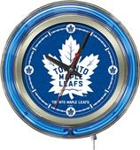 Holland NHL Toronto Maple Leafs Neon Logo Clock