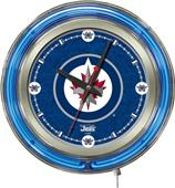 Holland NHL Winnipeg Jets Neon Logo Clock