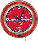 Holland NHL Washington Capitals Neon Logo Clock