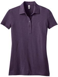 District Made Ladies' Slub Polo Shirts