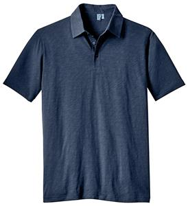 District Made Men's Slub Polo Shirts
