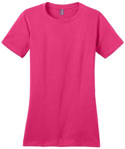District Made Ladies' Perfect Weight Crew Pink Tee