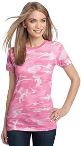 District Made Ladies' Perfect Weight Pink Camo Tee