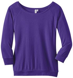 District Made Ladies Modal Blend 3/4-Sleeve Raglan