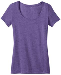 District Made Ladies' Textured Scoop Tee Shirts