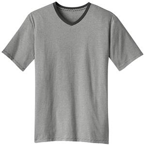 District Made Men's Mini Stripe Notch Crew Tee